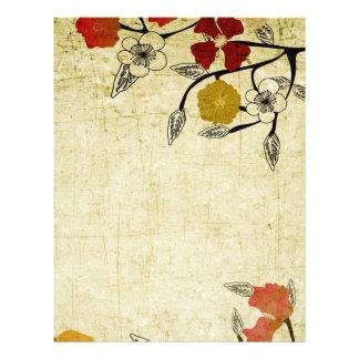 El vintage florece el aviador folleto 21,6 x 28 cm