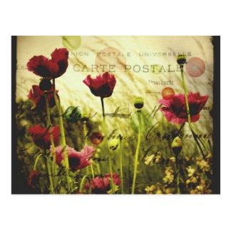 El vintage florece la postal
