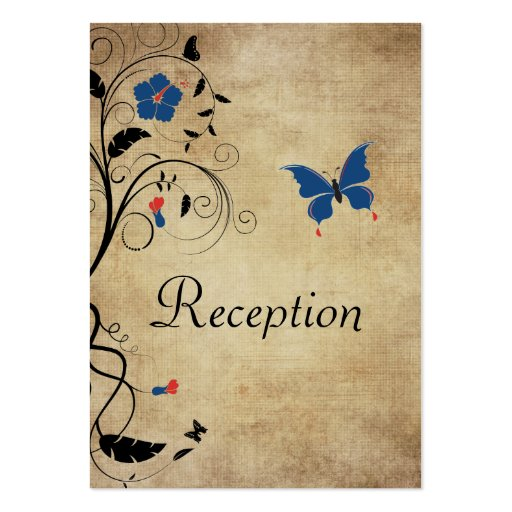 El vintage florece la tarjeta de la recepción nupc tarjeta de visita