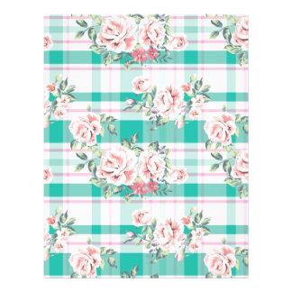 El vintage hermoso florece el modelo color de rosa flyer