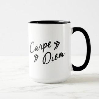 El vintage inspiró la taza de Carpe Diem