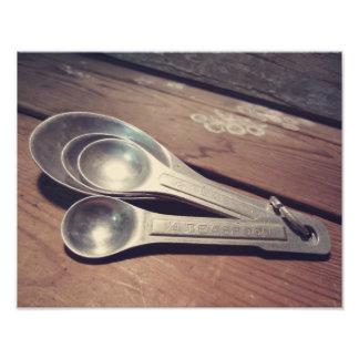 El vintage inspiró las cucharas dosificadoras de arte fotográfico