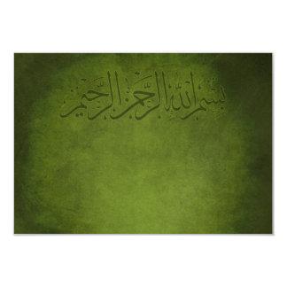 El vintage islámico le agradece boda del nikkah invitación 8,9 x 12,7 cm