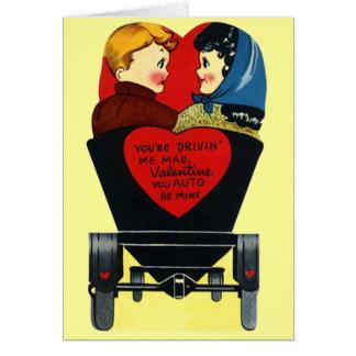 """El vintage lindo """"auto sea el mío"""" tarjeta del día"""