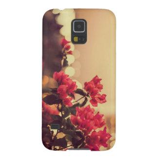 El vintage lindo florece la caja del teléfono carcasa galaxy s5