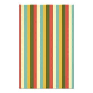 El vintage multicolor raya el modelo tarjetas informativas