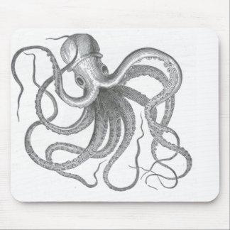 El vintage náutico del pulpo del steampunk kraken alfombrilla de ratón