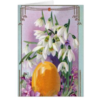 El vintage Pascua florece la tarjeta