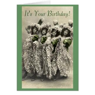 El vintage puede poder la tarjeta de cumpleaños