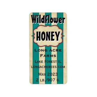 El vintage raya el tarro modificado para etiquetas de dirección