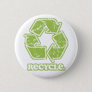 El vintage recicla el botón redondo de la muestra