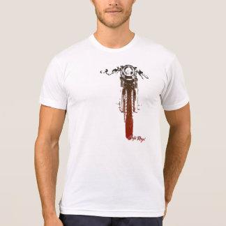 El vintage rojo de frente del corredor del café camisetas