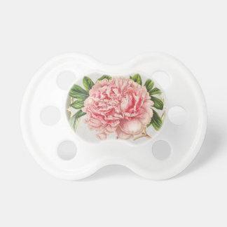 El vintage rosado florece de par en par chupete