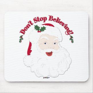 ¡El vintage Santa no para el creer! Alfombrilla De Ratón