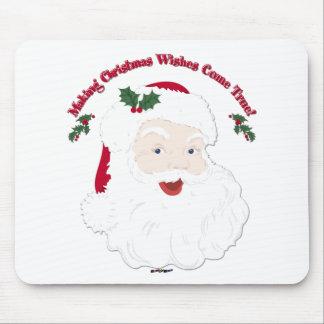 ¡El vintage Santa que hace sueños del navidad vien Alfombrilla De Ratón