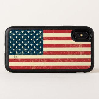 El vintage se descoloró la bandera americana los
