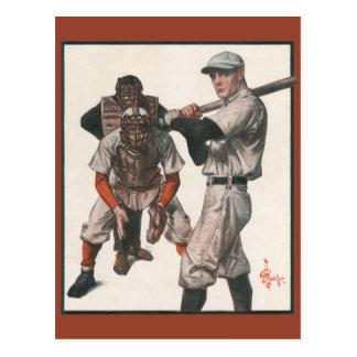 El vintage se divierte a los jugadores de béisbol postal