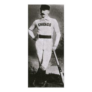 El vintage se divierte la foto del béisbol; invitación 10,1 x 23,5 cm