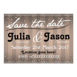 El vintage siluetea la invitación del boda