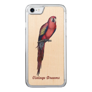 "El ""vintage soña"" - a Sr. Macaw Funda Para iPhone 7 De Carved"