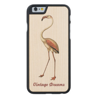 """El """"vintage soña"""" - el flamenco funda de iPhone 6 carved® slim de arce"""