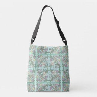 El vintage verde florece el bolso