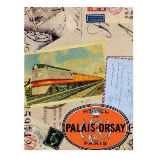 El vintage viaja postal
