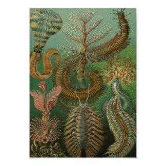 El vintage Worms los anélidos, invitaciones de Invitación 12,7 X 17,8 Cm