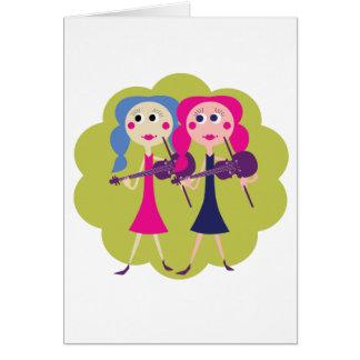 El violín hermana tarjetas de nota