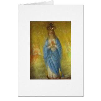 El Virgen María -   período medieval Tarjeta De Felicitación