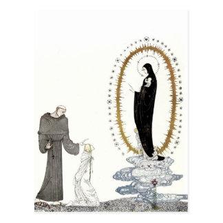 El Virgen María vuelve a los bebés de la reina jov Postal