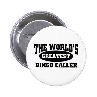 El visitante más grande del bingo chapa redonda de 5 cm