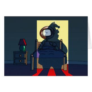 El visitante tarjeta de felicitación