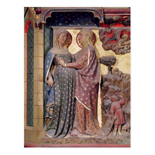El Visitation, 1340-51 Tarjeta Postal