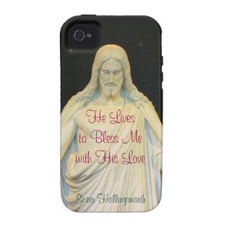 Él vive para bendecirme iPhone 4/4S carcasas