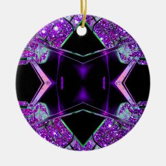 El volar a través del ornamento del navidad del adorno redondo de cerámica