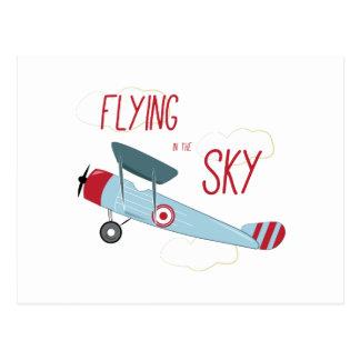 El volar en el cielo postal