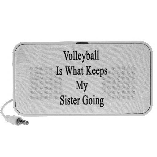El voleibol es qué guarda mi ir de la hermana altavoz de viaje