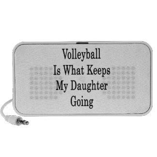 El voleibol es qué guarda mi ir de la hija iPod altavoces