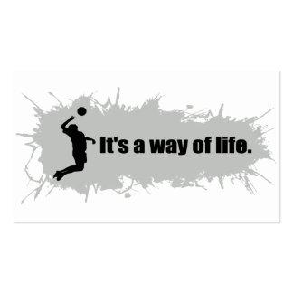 El voleibol es una manera de vida (el varón) tarjetas de visita