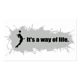 El voleibol es una manera de vida (femenina) tarjetas de visita