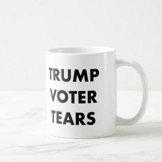 El votante del triunfo rasga la taza