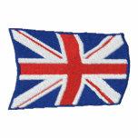 El vuelo Union Jack bordó la chaqueta del chándal