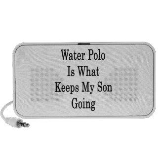 El water polo es qué guarda mi ir del hijo iPod altavoces