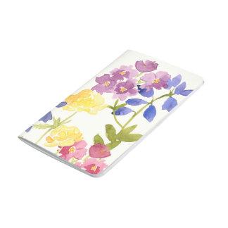El Watercolour colorido florece el diario del