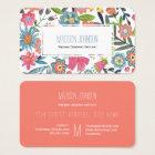 El Watercolour florece tarjetas de visita del