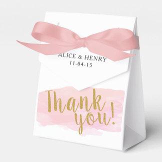 El Watercolour le agradece caja del favor del boda