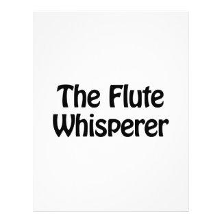 el whisperer de la flauta folleto 21,6 x 28 cm