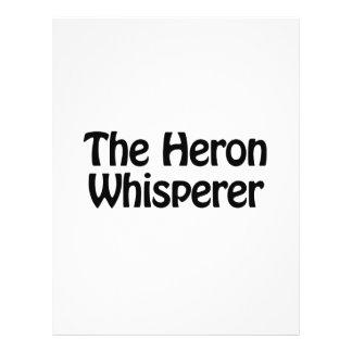 el whisperer de la garza folleto 21,6 x 28 cm