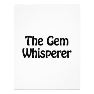 el whisperer de la gema folleto 21,6 x 28 cm